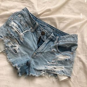 AE denim shorts